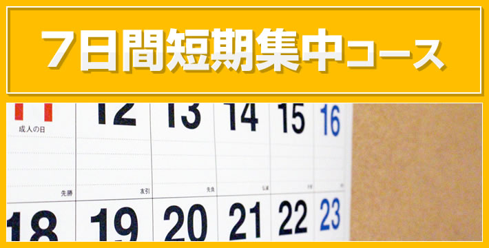 7日間短期集中コース